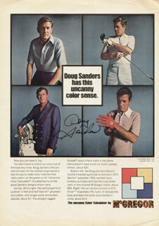 DOUG SANDERS - ADVERTISEMENT SIGNED