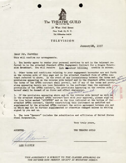 LEE MARVIN - DOCUMENT MULTI-SIGNED 01/10/1957