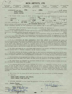 JACKIE COOPER - CONTRACT SIGNED 04/26/1948
