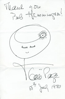 GALE PAGE - INSCRIBED SKETCH SIGNED 07/15/1980