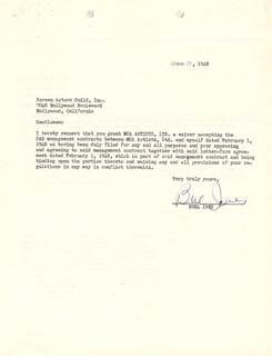 BURL IVES - TYPED LETTER SIGNED 06/29/1948