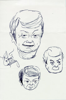 DEFOREST KELLEY - SELF-CARICATURE SIGNED