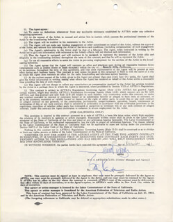 JAMES DARREN - CONTRACT SIGNED 11/01/1961