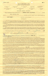 RUDY VALLEE - CONTRACT SIGNED 06/13/1951