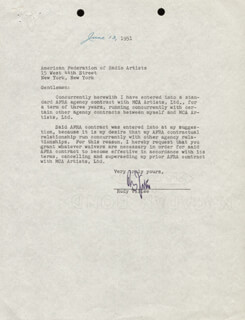 RUDY VALLEE - TYPED LETTER SIGNED 06/13/1951