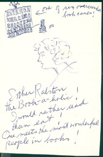 ESTHER RALSTON - SELF-CARICATURE SIGNED