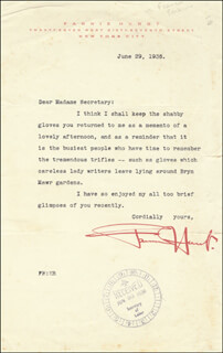 FANNIE HURST - TYPED LETTER SIGNED 06/29/1936