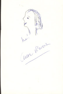 ANNE REVERE - SELF-CARICATURE SIGNED