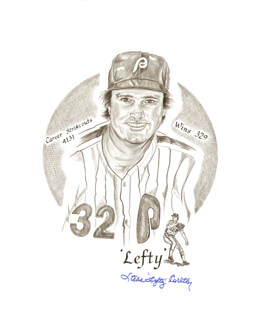 STEVE CARLTON - ILLUSTRATION SIGNED