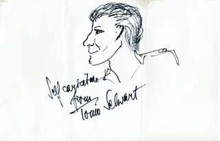 TONIO SELWART - SELF-CARICATURE SIGNED