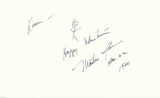 MARTIN SHEEN - AUTOGRAPH NOTE SIGNED 12/22/1980