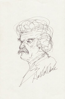 HAL HOLBROOK - SELF-CARICATURE SIGNED