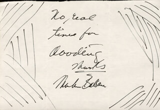 MARTIN BALSAM - AUTOGRAPH NOTE SIGNED