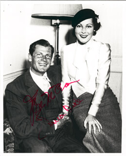 JOEL McCREA - AUTOGRAPHED SIGNED PHOTOGRAPH CO-SIGNED BY: FRANCES DEE