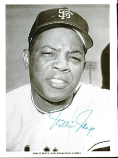 WILLIE SAY HEY KID MAYS - MAGAZINE PHOTOGRAPH SIGNED