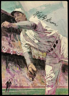 LEFTY GROVE - ILLUSTRATION SIGNED