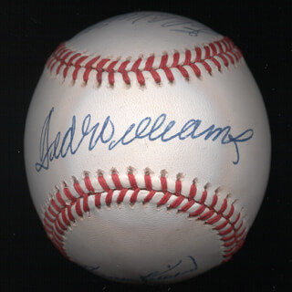 TED WILLIAMS - AUTOGRAPHED SIGNED BASEBALL CO-SIGNED BY: HARMON KILLEBREW, EDDIE MATHEWS