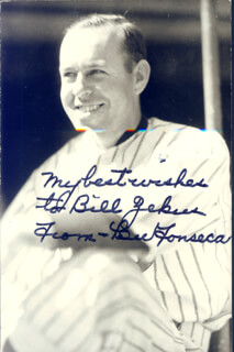 LEW FONSECA - AUTOGRAPHED INSCRIBED PHOTOGRAPH