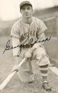 GEORGE CISAR - AUTOGRAPHED SIGNED PHOTOGRAPH