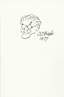 Autographs: C. C. (CHARLES) BECK - ORIGINAL ART SIGNED 1977