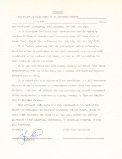 YOGI BERRA - DOCUMENT SIGNED CIRCA 1972
