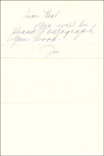 MARIE DIMAGGIO - AUTOGRAPH NOTE SIGNED