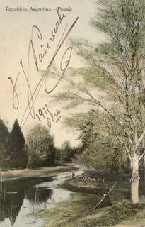 IGNACY JAN PADEREWSKI - PICTURE POST CARD SIGNED 10/1911