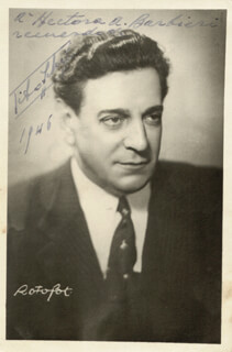 TITO SCHIPA - AUTOGRAPHED INSCRIBED PHOTOGRAPH 1946