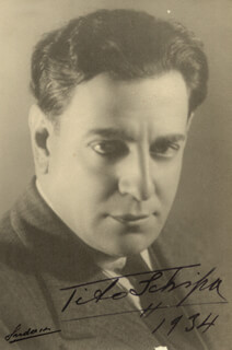 TITO SCHIPA - AUTOGRAPHED SIGNED PHOTOGRAPH 1934