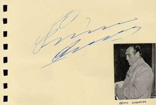 PRIMO CARNERA - AUTOGRAPH CO-SIGNED BY: JULIE HARRIS