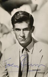 ANTHONY PERKINS - PICTURE POST CARD SIGNED