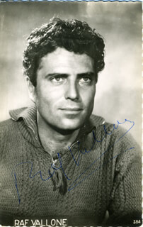 RAF VALLONE - PICTURE POST CARD SIGNED