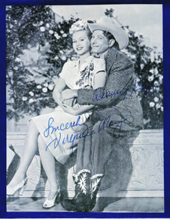 DANNY KAYE - MAGAZINE PHOTOGRAPH SIGNED CO-SIGNED BY: VIRGINIA MAYO