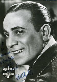TINO ROSSI - AUTOGRAPHED SIGNED PHOTOGRAPH
