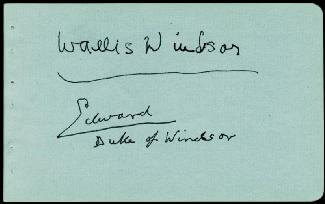 KING EDWARD VIII - AUTOGRAPH CO-SIGNED BY: DUCHESS OF WINDSOR (WALLIS SIMPSON)