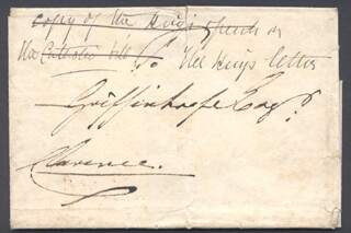 Autographs: KING WILLIAM IV - AUTOGRAPH ENVELOPE SIGNED