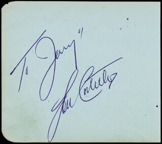 Autographs: ABBOTT & COSTELLO (LOU COSTELLO) - INSCRIBED SIGNATURE CO-SIGNED BY: VIRGINIA BRUCE