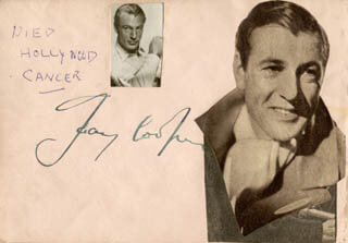 GARY COOPER - AUTOGRAPH  - HFSID 159294