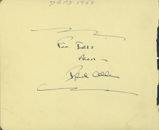 Autographs: FRED ALLEN - SIGNATURE(S) CO-SIGNED BY: GYPSY ROSE LEE