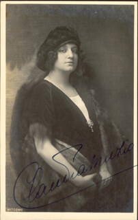 CLAUDIA MUZIO - PICTURE POST CARD SIGNED
