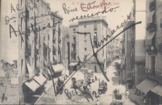 Autographs: EDUARDO ZAMACOIS - INSCRIBED PICTURE POSTCARD SIGNED CIRCA 1920
