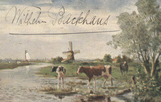 WILHELM BACKHAUS - PICTURE POST CARD SIGNED