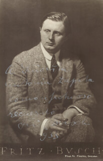 FRITZ BUSCH - INSCRIBED PICTURE POSTCARD SIGNED 1933