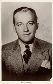 BING CROSBY - PICTURE POST CARD SIGNED