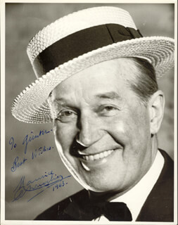 MAURICE CHEVALIER - AUTOGRAPHED INSCRIBED PHOTOGRAPH 1963