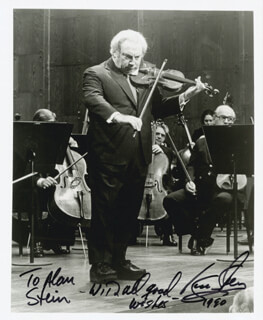 ISAAC STERN - AUTOGRAPHED INSCRIBED PHOTOGRAPH 1990