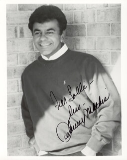 JOHNNY MATHIS - AUTOGRAPHED INSCRIBED PHOTOGRAPH