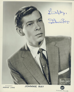 JOHNNIE RAY - AUTOGRAPHED SIGNED PHOTOGRAPH