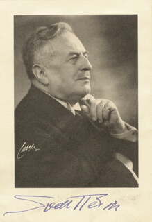 Autographs: SVEN HEDIN - PHOTOGRAPH SIGNED