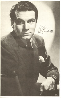 LAURENCE OLIVIER - PROGRAM SIGNED